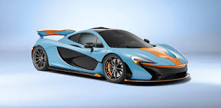 gulf racing truck mclaren p1 gets dressed up in gulf colours photos 1 of 3