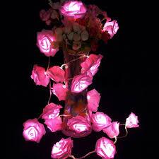 led novelty flower string lights simulation floral