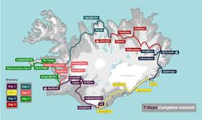 Iceland Map Location 7 Day Package Around Iceland Adventure