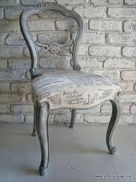 French Script Armchair Restyled Vintage French Script Chair