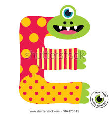 happy monsters vector alphabet letters classroom stock vector
