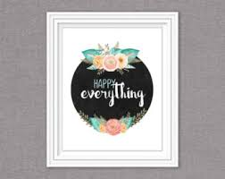 happy everything sign happy everything etsy