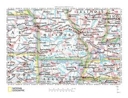 County Map Of Missouri Gasconade River White River Drainage Divide Area Landform Origins