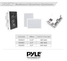 in ceiling home theater speakers amazon com pyle in wall in ceiling dual 8 0 u0027 u0027 enclosed speaker
