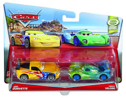 jeff corvette disney pixar cars moments 2 pack jeff gorvette carla veloso