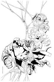 hellboy coloring pages kevin nowlan hellboy cover thumbnail sketch to inks