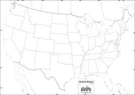 united states map blank with outline of states united states map blank color us thempfaorg with noticeable usa