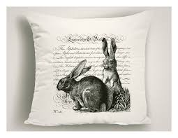 vintage easter decorations unique easter pillows with script black and white easter bunnies