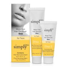 simply gigi mess free hair remover duo for face 1 oz