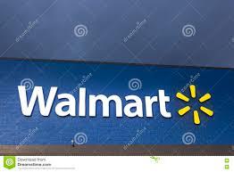 American Flag Walmart Walmart Sign Illuminated At Night Editorial Image Image Of Logo