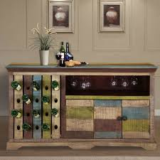 Wine Bar Furniture Modern by Rustic Mango Wood 2 Sided Wine Bar Cabinet