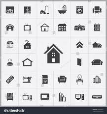 simple home icons set universal home stock vector 393808987