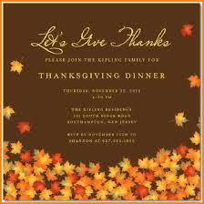 4 thanksgiving invitation template artist resume