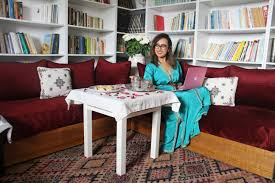 tour my house library sitting room kaftan mag