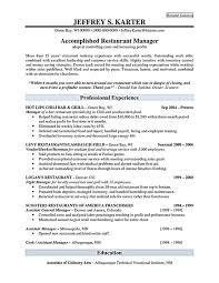 Sample Resume For Restaurant Manager by Assistant Restaurant Manager Cover Letter