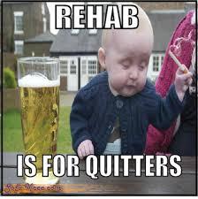 Rehab Meme - sofa knee i m not drunk