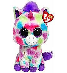 amazon ty beanie boos wishful unicorn plush medium toys u0026 games