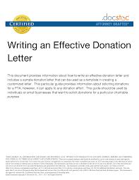 sample donation letter nonprofit donation request letter template
