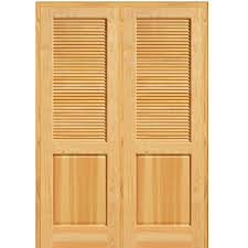 Home Depot Solid Core Interior Door by Mmi Door 62 In X 81 75 In Unfinished Pine Half Louver 1 Panel