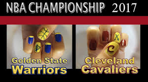 nba championship nails golden state warriors and cleveland