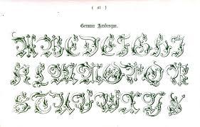 typography alphabet ornamental renaissance 40