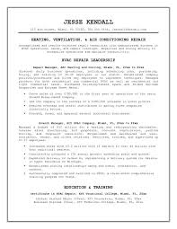 Ct Tech Resume Examples by Resume Templates Hvac And Refrigeration Resume Hvac Resume