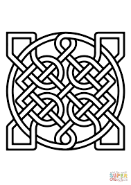 celtic ornamental knot insquare coloring page free printable