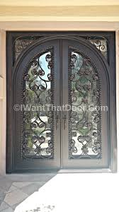 Office Door Design Custom Wrought Iron Front Door With Full Arch Transom Double