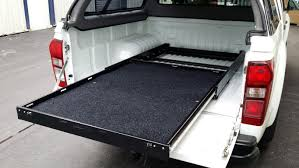 Ford Ranger Truck Bed Accessories - multi purpose slide out cargo shelf tray for pick ups and vans