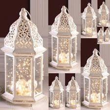 lantern centerpieces wedding 10 white lantern candleholder wedding centerpieces ebay