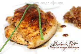 cuisiner des escalopes de poulet escalope de poulet au vinaigre balsamique recette facile
