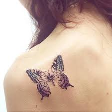 collection of 25 cool butterfly on shoulder back