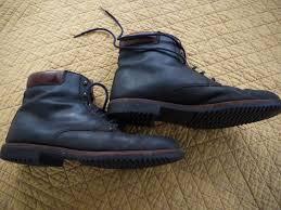 cole haan black leather lace up ankle plain toe boots men u0027s sz