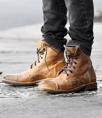 s rugged boots s leather boots wingtip cap toe rugged bed stu