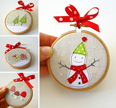 25 handmade ideas embroidery hoops ornaments and