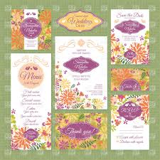 Invitation Card Download Colorful Floral Wedding Invitation Cards Vector Image 37735