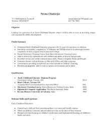 Resume For Montessori Teacher Neena Resume