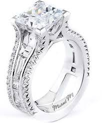 2 engagement rings michael m baguette engagement ring r602 2