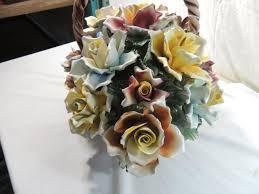 capodimonte basket of roses capodimonte large flower basket
