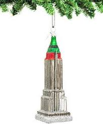 empire state building glass ornaments with santa s sleigh a fun
