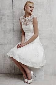 tea length lace wedding dresses with cap sleeves naf dresses