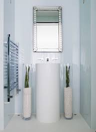 Contemporary Pedestal Sinks Tall Glass Vases With White Bathroom Bathroom Contemporary And