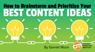 how to ideas how to brainstorm and prioritize your best content ideas