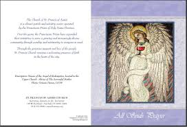 all souls day and thanksgiving cards francis of assisi
