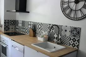 carreau ciment cuisine credence effet carreau de ciment chambre enfant credence cuisine