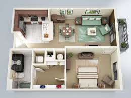 one bedroom home plans one bedroom house plan 3d luxury 1 bedroom apartment house plans