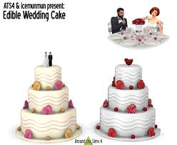 wedding cake sims 4 around the sims 4 custom content edible wedding cake