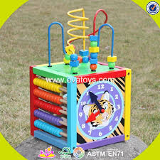 wooden bead toy table 2017 wholesale multi function wooden bead activity table