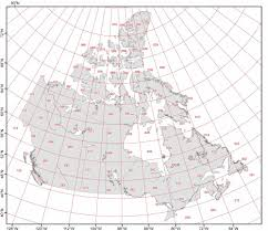 Blank Map Of Canada by Canada Grid Jpg