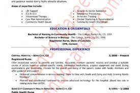 Resume Examples For Registered Nurse by Er Registered Nurse Resume Examples Reentrycorps